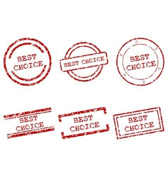 best choice stamps vector image vector image