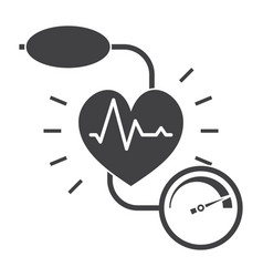 blood pressure icon vector image vector image