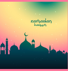 Colorful ramadan kareem festival greeting vector