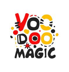 Creative voodoo african and american logo design vector