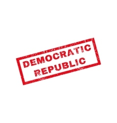 Democratic republic rubber stamp vector