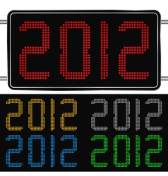 digits of new year 2012 vector image vector image