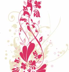 floral elements background vector image vector image