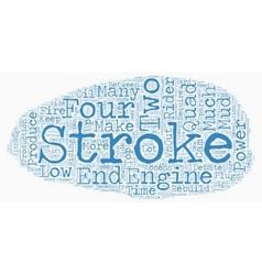 Great debate two stroke versus four 1 text vector
