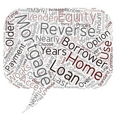 How A Reverse Mortgage Works text background vector image vector image