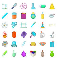 Laboratory icons set cartoon style vector