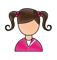 Little girl avatar character vector