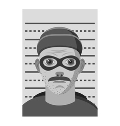 Man arrested icon gray monochrome style vector