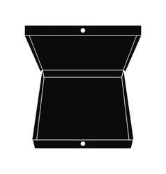 Open pizza box black simple icon vector image