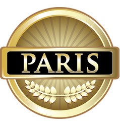 Paris gold icon vector