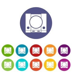 PlayStation set icons vector image