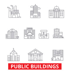 Public institutional buildings commercial houses vector