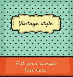 Retro greeting card template design vector image vector image