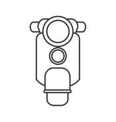 Retro scooter icon vector