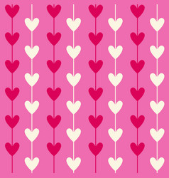 romantic seamless heart pattern background for vector image vector image