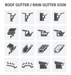 Roof gutter icon vector