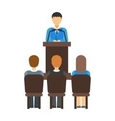 Teamwork multiethnic group of conference people vector image vector image
