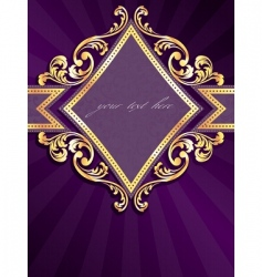 vertical label with gold rim vector image vector image