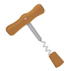 Wine corkscrew vector image vector image
