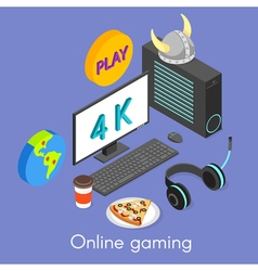 Iisometric concept for online gaming vector