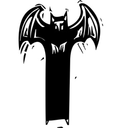 Tall Demon vector image