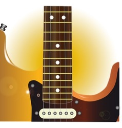 Guitar close up vector