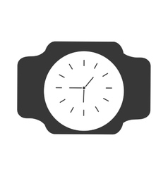 Silhouette classic analog watch wearable vector