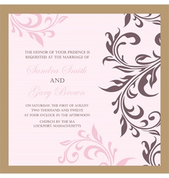 wedding invitation pink vector image