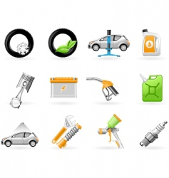 car service and repairing icon vector image