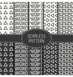 Set of hand drawn geometric monochrome hipster vector