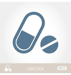 Medication icon vector