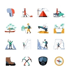 Expedition icons set vector