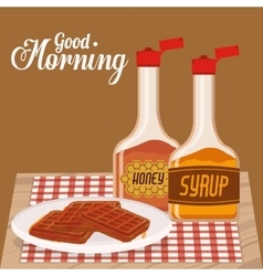 good morning breakfast design vector image