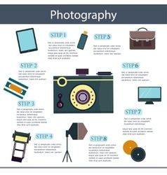 Set of colorful photography camera logos vector
