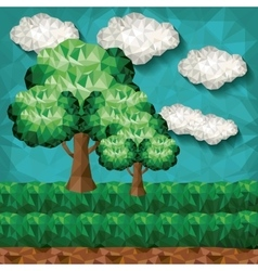 Landscape low poly design vector