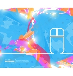 Creative mouse art template vector