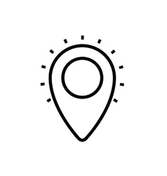 Pin location isolated icon design vector