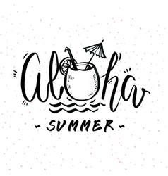 Aloha summer juiec sand background image vector