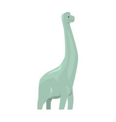 Cartoon brachiosaurus dinosaur character jurassic vector