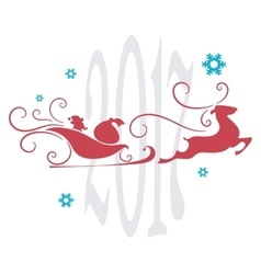 Christmas card abstract festive background vector image
