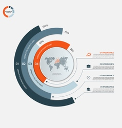 Circle infographic template with 4 options vector