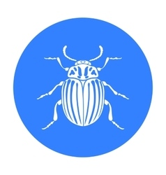 Colorado beetle icon in black style isolated on vector image