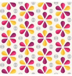 Floral seamless pattern origami style vector