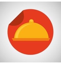 food serving platter icon design vector image vector image