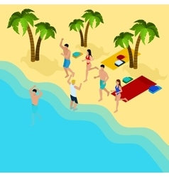 Friends On The Beach vector image