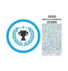 Glory rounded icon with 1000 bonus icons vector