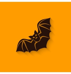 Halloween bat sign vector
