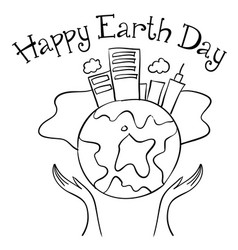 happy earth day style collection vector image vector image
