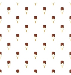 Ice cream with chocolate sauce on a stick pattern vector