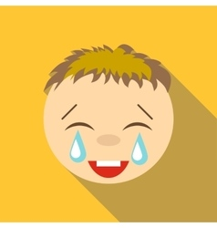 Laughter to tears icon flat style vector
